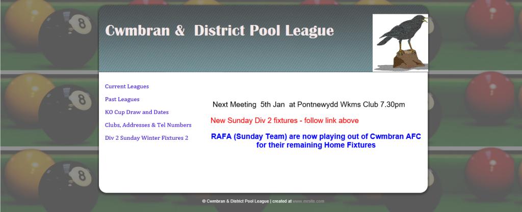 cwmbran pool league